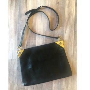 Henri Bendel Black Leather Crossbody New $400